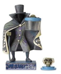 Disney Parks Traditions Jim Shore Haunted Mansion Hatbox Ghost Figure Glow Dark