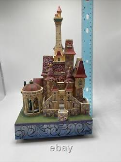 Disney Tradition Beauty and the Beast Castle Jim Shore Enesco Music Box Light Up