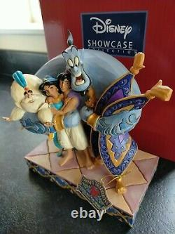 Disney Traditions Aladdin Group Hug Rare Enesco Showcase Jim Shore Figure Large