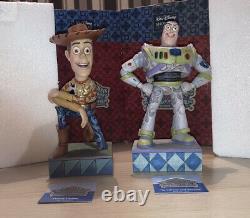 Disney Traditions Buzz & Woody Jim Shore Enesco Howdy Partner & To Infinity & Be