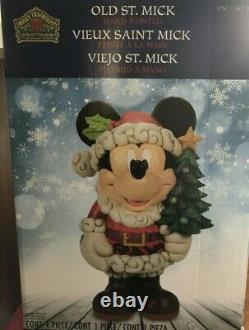 Disney Traditions Christmas Decor Mickey Mouse Old St Mick Jim Shore 17 Inch NEW