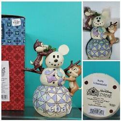 Disney Traditions Enesco Jim Shore Chip & Dale Woodland Winter Wonderland CIB