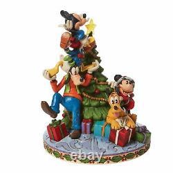 Disney Traditions FAB 5 DECORATING TREE Figure Jim Shore Christmas NEW Lights Up