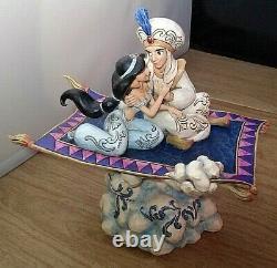 Disney Traditions Jim Shore Aladdin & Jasmine Magic Carpet Ride Musical Lights