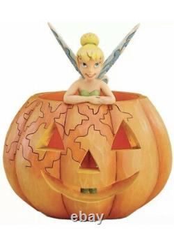 Disney Traditions Jim Shore Enesco A Pixie Treat Tinker Bell Pumpkin Halloween