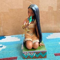 Disney Traditions Jim Shore Free and Fierce Pocahontas with Bird Figurine Rare