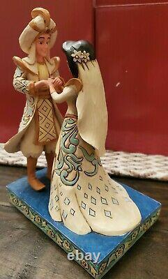 Disney Traditions Jim Shore Jasmine & Aladdin Wedding A Wish Come True