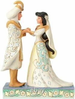 Disney Traditions Jim Shore Jasmine & Aladdin Wedding A Wish Come True BNIB HTF