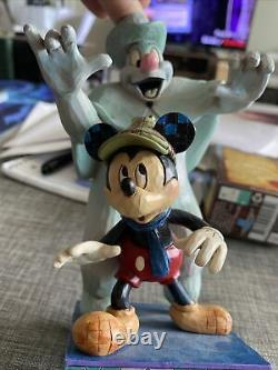 Disney Traditions Jim Shore Mickey Mouse Lonesome Ghost Spooked Glow In The Dark