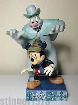 Disney Traditions Jim Shore Mickey Mouse Lonesome Ghost Spooked Glows