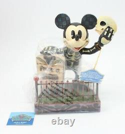 Disney Traditions Jim Shore Peek-a-Boo Mickey Halloween Glow in the Dark 4011043