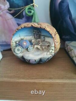 Disney Traditions Showcase Enesco Cinderella Pumpkin Hanging Ornament