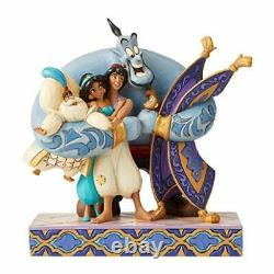 Disney Traditions by Jim Shore Aladdin Genie Carpet Group Hug Figurine 7.87 Inch