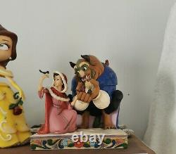Disney traditions showcase beauty and the beast something there figurine