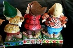 EUC Disney traditions enesco Jim Shore collectibles Seven Dwarfs All 7 withBoxes