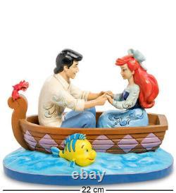 Enesco Disney Traditions Jim Shore 4055414 Figurine Ariel & Eric in Boat