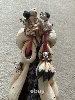 Enesco Jim Shore Disney Traditions Cruella Fur Lined Diva 101 Dalmatians