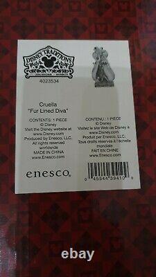 Enesco Jim Shore Disney Traditions Cruella Fur Lined Diva 101 Dalmatians rare