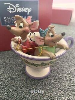 Enesco Jim Shore Disney Traditions Jaq and Gus Tea For Two Tea Cup Rare Signed