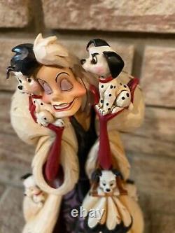 Enesco Jim Shore Disney Traditions RARE Cruella Fur Lined Diva 101 Dalmatians