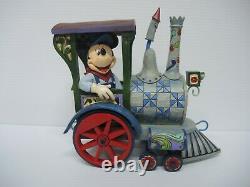 Enesco Jim Shore Figurine 4016585 Mickey all aboard Disney Traditions