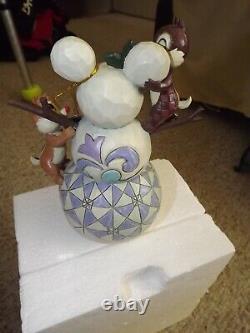 Enesco Jim Shore Woodland Winter Wonderland Chip Dale Disney Traditions in Box