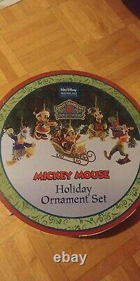 JIM SHORE DISNEY TRADITIONS MICKEY MOUSE HOLIDAY ORNAMENT SET Of 5 RETIRED