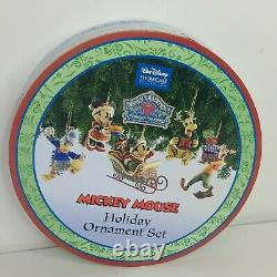 JIM SHORE DISNEY TRADITIONS MICKEY MOUSE HOLIDAY ORNAMENT Set RETIRED RARE