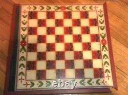 Jim Shore 3 in 1 GAME SET CHESS CHECKERS & BACKGAMMON NIB! Beautiful Very Rare