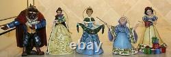 Jim Shore 4 Ornament Sets Cinderella Snow White Beauty and the Beast Villains