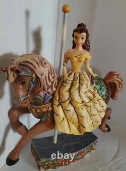 Jim Shore Disney Princess of Knowledge Belle Carousel Horse 4011744