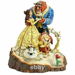 Jim Shore Disney Traditions Beauty and the Beast Carved by Heart Figurine, 7.75