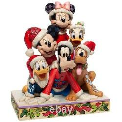 Jim Shore Disney Traditions Christmas Mickey and Friends Figurine 6007063