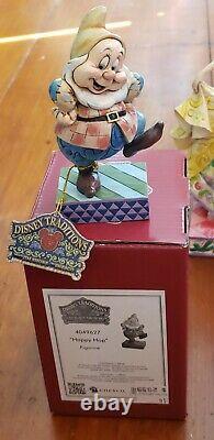 Jim Shore Disney Traditions Enesco Snow White 7 Dwarves Boxes Tags