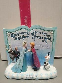 Jim Shore Disney Traditions Frozen Storybook Act Of Love # 4049644