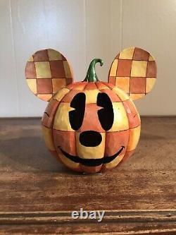 Jim Shore Disney Traditions Happy Halloween Mickey Mouse Pumpkin Walt Enesco