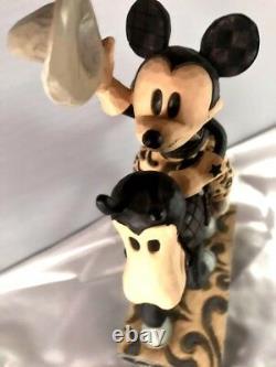Jim Shore Disney Traditions Howdy Pardner Mickey B&w