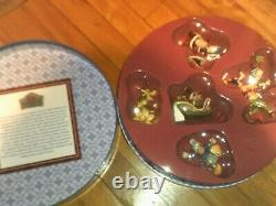 Jim Shore Disney Traditions MICKEY MOUSE HOLIDAY ORNAMENT SET 5 pcs. LOOK! NIB