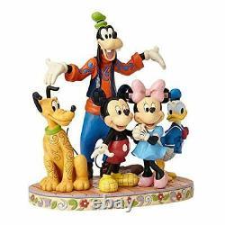 Jim Shore Disney Traditions Mickey Fab Five Mickey Minnie Goofy Figurine 4056752