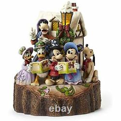 Jim Shore Disney Traditions Mickey & Friends Caroling Light-Up Figurine 4046025