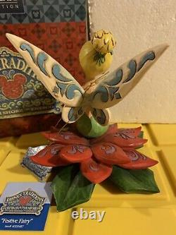 Jim Shore Disney Traditions Rare Hand Signed Tinkerbell Festive Fairy #4025487