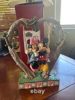 Jim Shore Disney Traditions Showcase Mickey & Minnie on Swing 6008328 NIB
