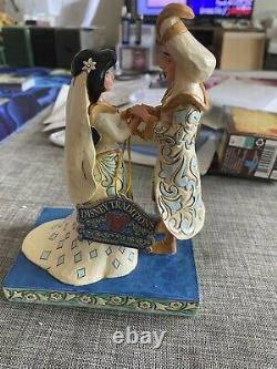 Jim Shore Disney Traditions White Aladdin & Jasmine Wedding Figurine