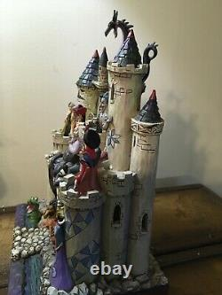 Jim Shore Disney Villains Tower Of Fright. Extremely Rare. Htf