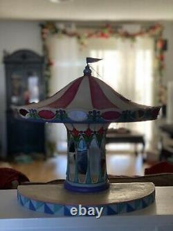 Jim Shore Disney traditions Carousel with 3 Figurines Dumbo, Snow White & Belle