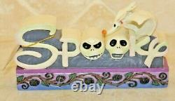 Jim Shore Nightmare Before Christmas Spooky Zero Plaque Halloween NIB 4038492