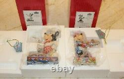 Jim Shore RARE Retired Disney Mickey Minnie Mouse Chef Cook Baker Cupcakes NIB
