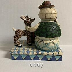 Jim Shore Traditions Rudolph & Sam the Snowman Figurine 4008339 Retired 2007