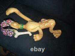 Jim Shore for Enesco Disney Traditions Pluto Figurine, Yard Ornament