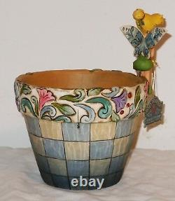NEW SIGNED Jim Shore Disney Traditions Tink Flower Pot Tinker Bell 4013258